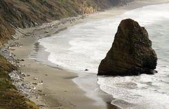 Rock Bluff Oregon State Scenic Landscape Pacific Ocean Coastal Stock Photography