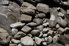 Rock and Boulder formations Royalty Free Stock Image