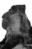 Rock boulder in Jordan desert. Stock Images