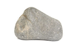 Rock boulder on white Royalty Free Stock Image