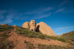 Rock Boulders in Mojave Royalty Free Stock Images