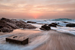 Rock Box Seascape royalty free stock images