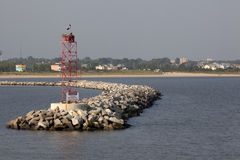 Rock Breakwater at Cape Henelopen Stock Images