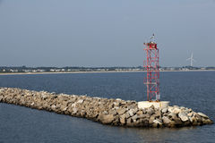 Rock Breakwater at Cape Henelopen Royalty Free Stock Photography
