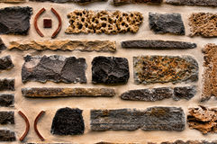Rock and brick wall Stock Images