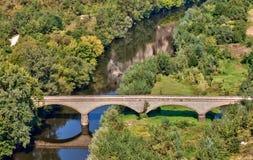 Rock bridge. Bridge over the River Iskar, Bulgaria Royalty Free Stock Photo
