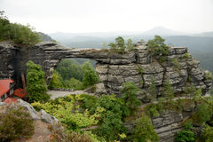 Rock bridge Pravčická brána Royalty Free Stock Photos