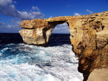 Rock bridge on the sea. Natural rock bridge on the sea Stock Photo