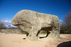 Rock bull side Stock Images