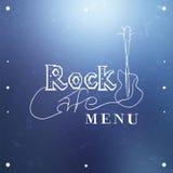 Rock Cafe Menu. Vector illustration Royalty Free Stock Photos