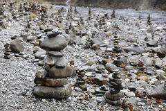 Rock Cairns Royalty Free Stock Photo