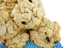 Rock Cakes. Close up photo of freshly home baked rock cakes, aussie style Royalty Free Stock Photography