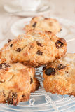 Rock Cakes or Buns. Rock Cakes or Rock Buns light crumbly cakes filled with dried fruit royalty free stock photography