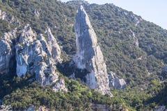 Rock on the Cala Goloritze beach, Sardinia, Italy Royalty Free Stock Image