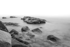 Rock and Calm Sea Stock Images