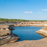 Rock Canyon as pool in Khong Rive Stock Images