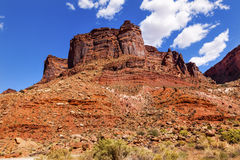 Rock Canyon Butte Outside Arches National Park Moab Utah Stock Photo