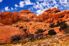 Rock Canyon Devils Garden Arches National Park Moab Utah Stock Photo