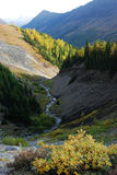 Rock canyon at ptarmigan cirque Royalty Free Stock Image