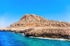 Rock at Cape Greco National Forest Park. Famagusta District, Cyp Stock Photo
