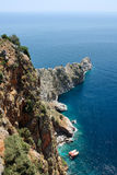 Rock cape near Alanya Turkey stock photo