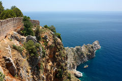 Rock cape near Alanya Turkey Royalty Free Stock Photo