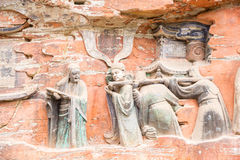 Rock Carving Baodingshan Dazu China Stock Photo