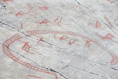 Rock carvings at Alta Royalty Free Stock Photos