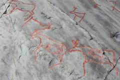Rock carvings at Alta Royalty Free Stock Photo