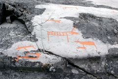 Rock carvings at Alta, Norway Royalty Free Stock Photos