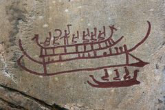 Rock Carvings in Tanum. Stock Photography