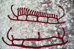 Rock Carvings royalty free illustration