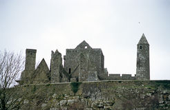 Rock of Cashel. The ancient ruins of the Rock of Cashel, Co. Tipperary, Ireland royalty free stock photos