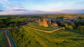 Rock of Cashel castle at sunset time, Co Tipperary, Ireland. Stock Photography