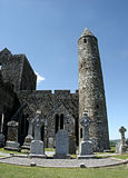 Rock of Cashel, Ireland. The Rock of Cashel, with its well preserved ecclesiastical remains, is one of Ireland's most spectacular landmarks, rising above the Stock Photo