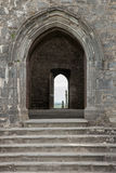 Rock of Cashel, Ireland. Entrance to the ruins of the cathedral at the Rock of Cashel, Ireland Royalty Free Stock Image