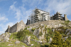 Rock of Cashel with scaffolding for major repairs, Cashel , Co T Royalty Free Stock Images