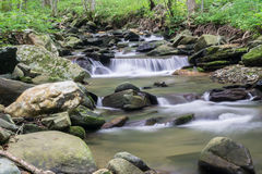 Rock Castle Creek Isolated Waterfall - 2 Stock Images