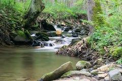 Rock Castle Creek Isolated Waterfall - 3 Stock Image