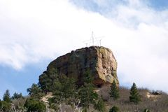 "The Rock @ Castle Rock. Daytime image of  ""The Rock"" at Rock Park,  famous landmark in Castle Rock, Colorado Royalty Free Stock Photos"