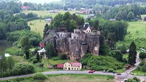 Rock Castle Sloup stock video footage