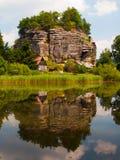 Rock Castle Sloup Royalty Free Stock Photo