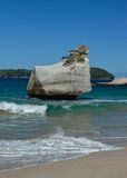 The Rock at Cathedral Cove Royalty Free Stock Photography