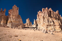 Rock cathedrals in Salar de Tara, Chile Royalty Free Stock Photography