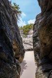 Rock Cave Bermuda Royalty Free Stock Photo