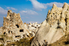 Rock cave in goreme valley Royalty Free Stock Images