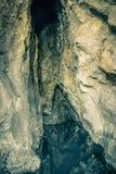 Rock Cave near the Kaiafas Lake. Greece stock photo