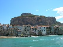 The rock of Cefalù Stock Photography