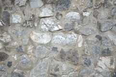Rock on cement wall Royalty Free Stock Images