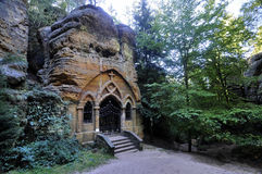 Rock chapel Stock Image
